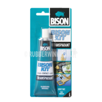 Bison Kit Transparant tube 100ml contactlijm (blisterverpakking).